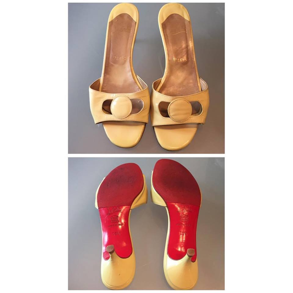 a8d124d9eff Lime Patent Leather Kitten Heels With Red Bottom - Blurmark