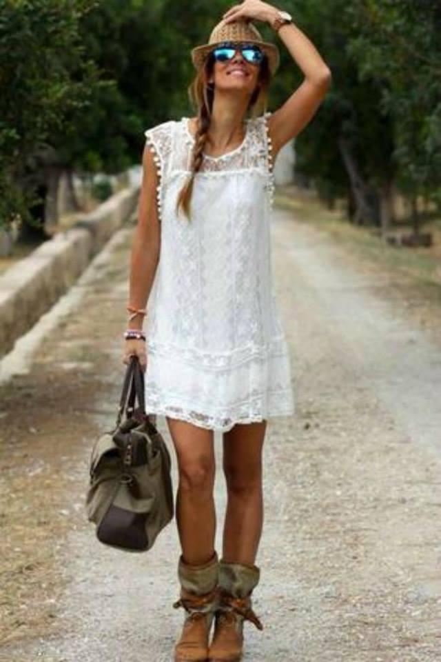 Lovely White Dress Perfect For Summer