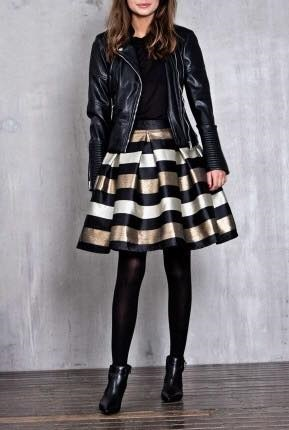 Marvelous Black Spring Outfit With Leather Jacket