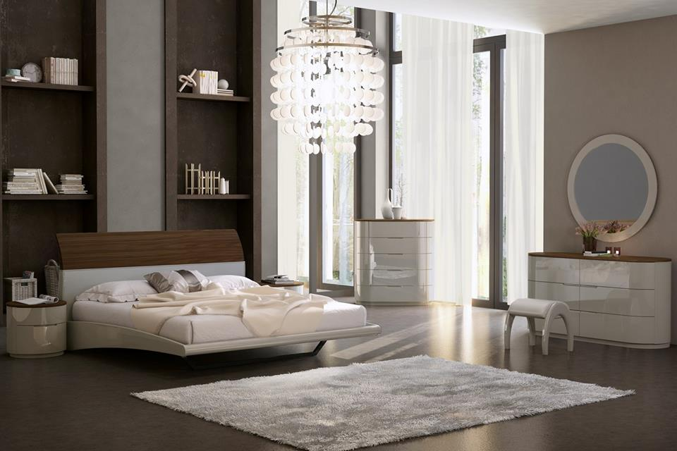 Marvelous Master Bedroom With Beautiful Interiors And Chandelier