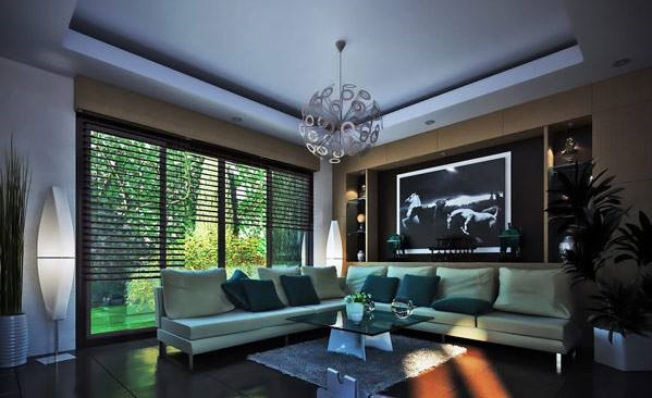 Natural View Themed Living Room Design
