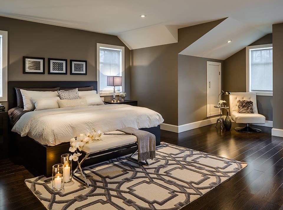 Nice Colour Combination In Contemporary Bedroom