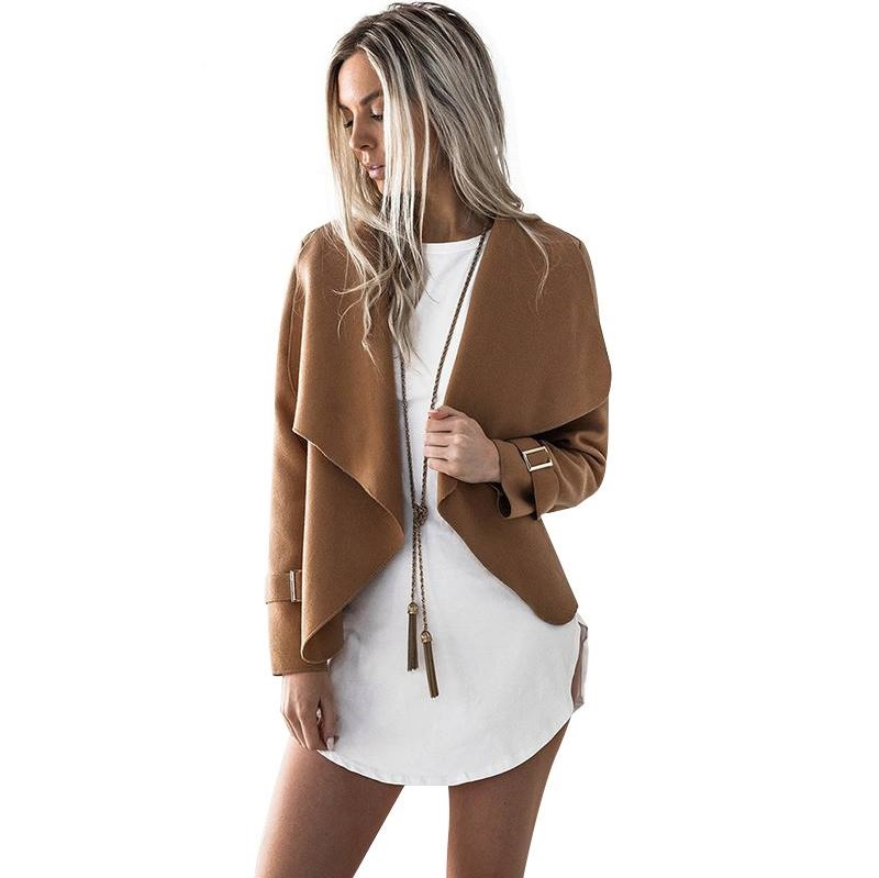 Nude Open Front Design Cardigan Jacket