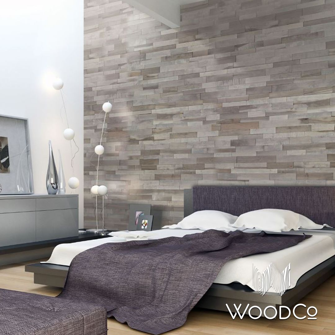 Platte 3D Wallboard Add Warm Touch In Contemporary Bedroom