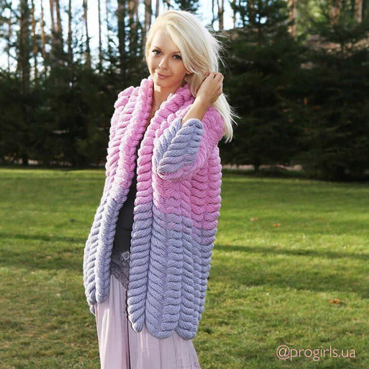 Pretty Pink Handmade Knit Cardigan