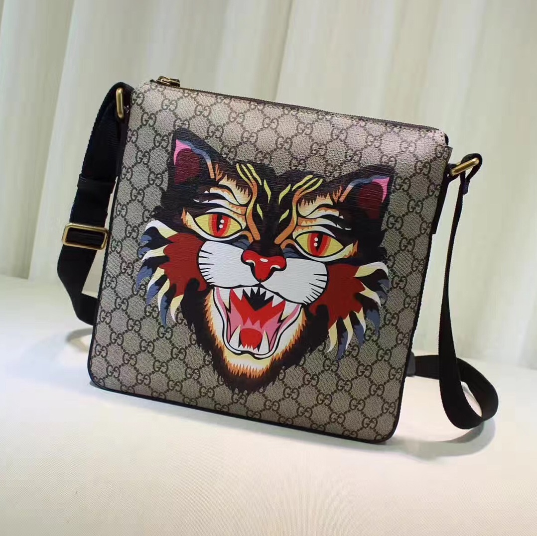 Ravishing Angry Cat Messenger Bag