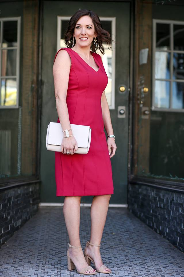 Ravishing Seamed Sheath Dress Perfect For Spring Party