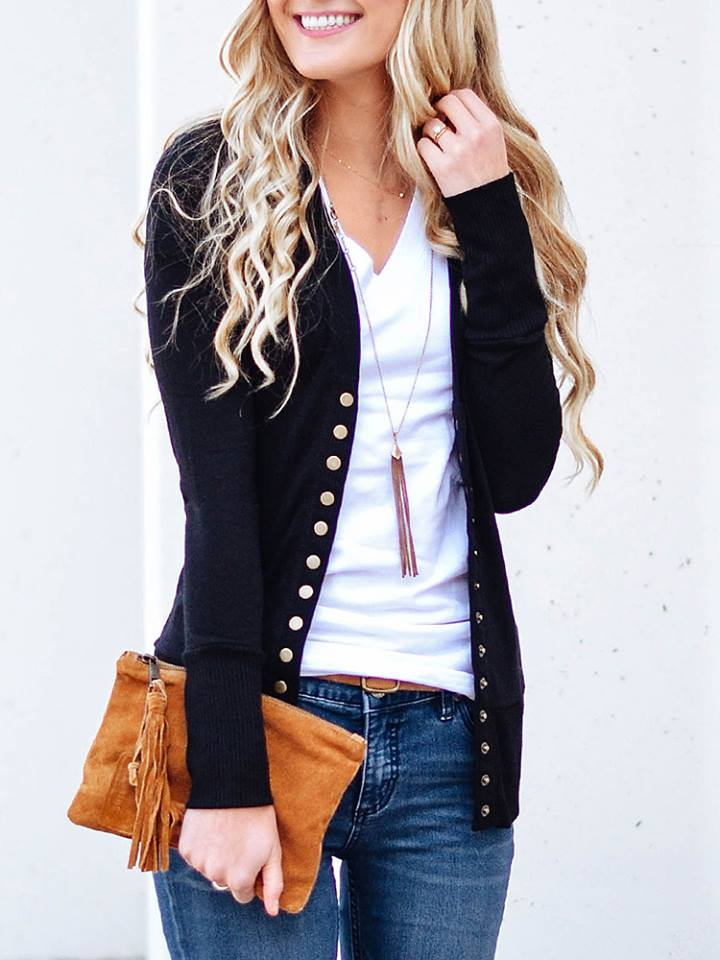 Rocking Buttoned Design Cardigan Coat