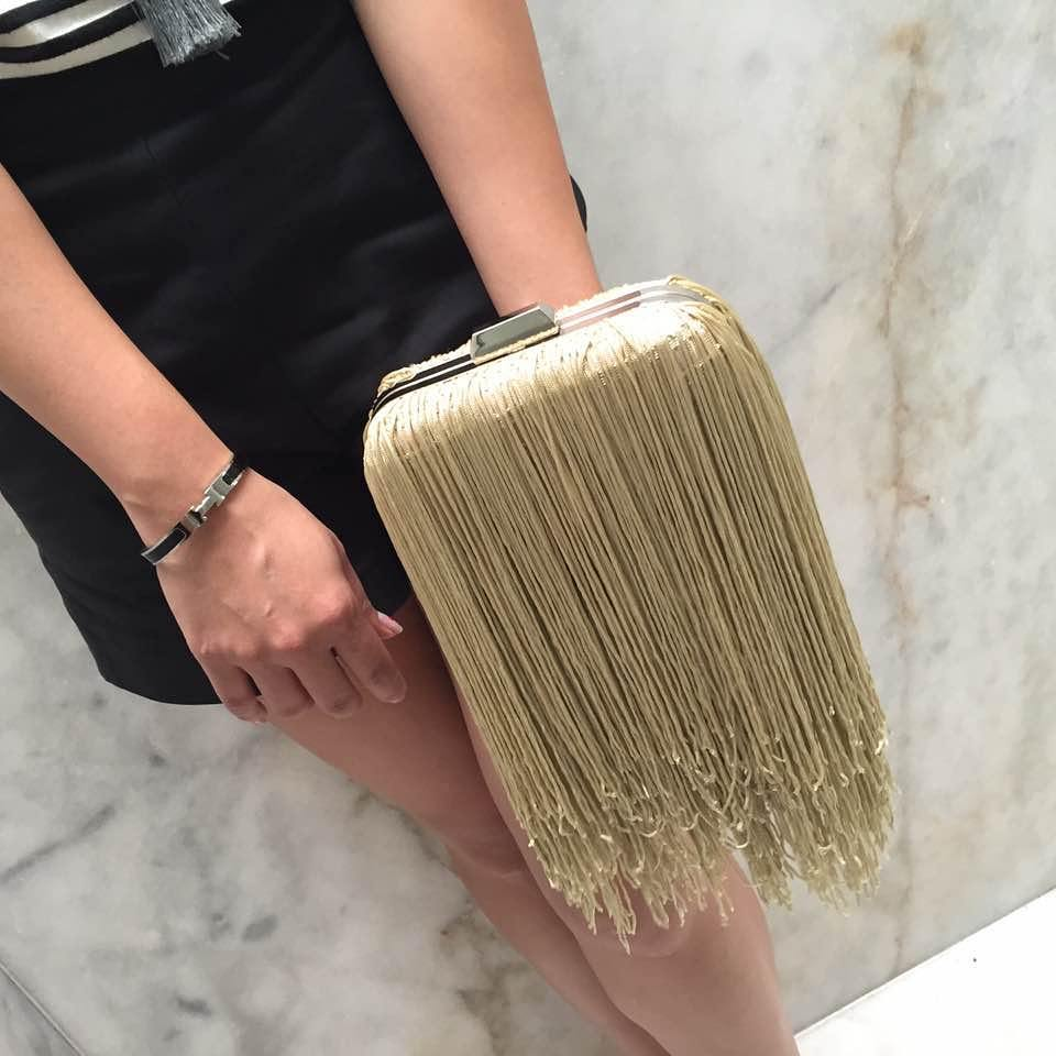 Rocking Fringes Clutch For Party