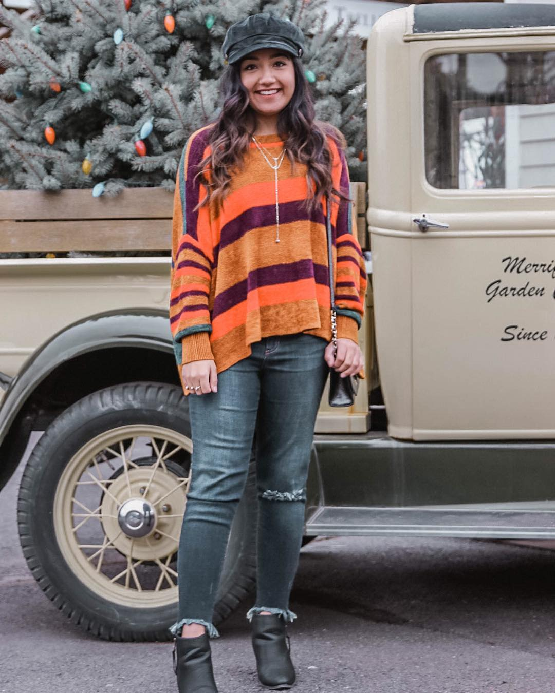 Rocking Stripes Sweater With Jeans