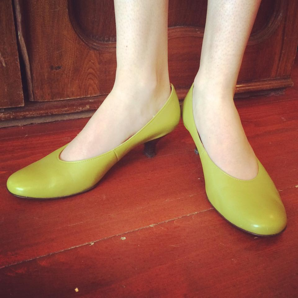 Round Toe Lime Green Heels
