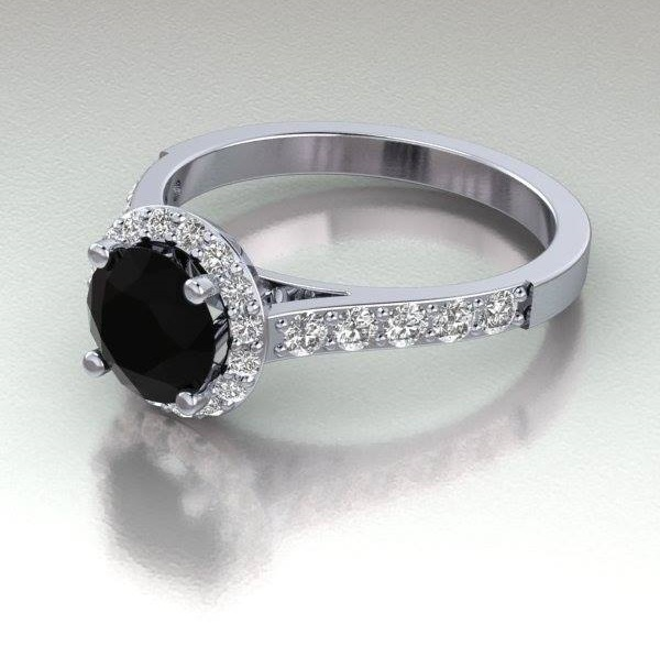 Sassy Black Diamond Engagement Ring