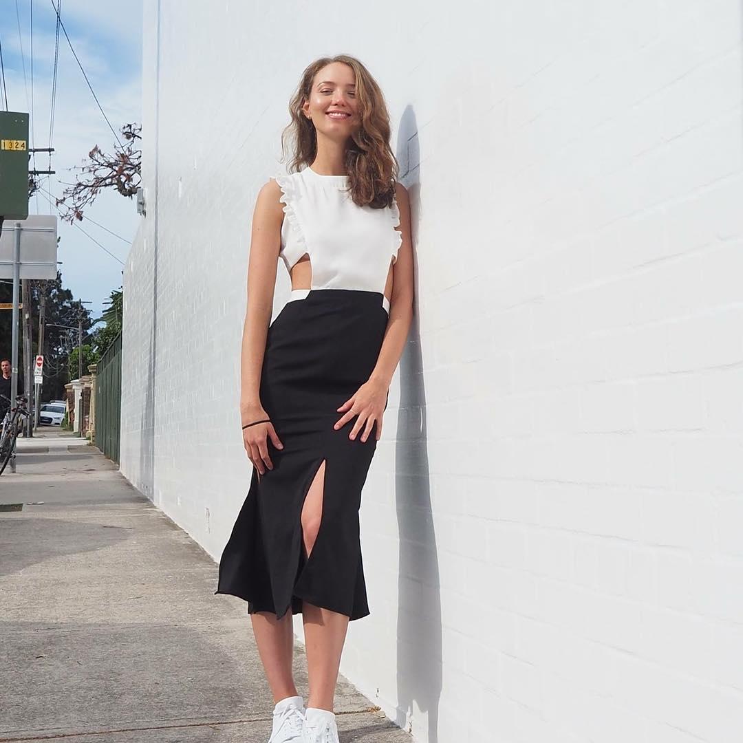 Stylish Black & White Dress
