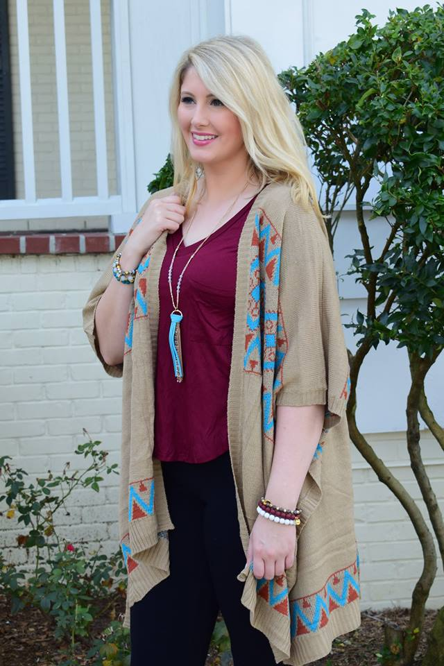 Superb Cardigan Paired With Maroon Top And Jeans