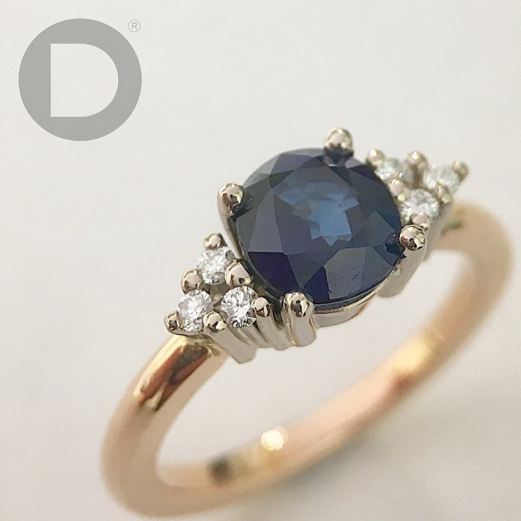 Swanky Handmade Sapphire And Diamond Ring For Engagement