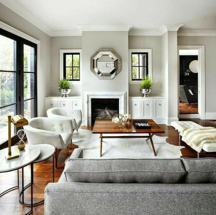 White Induced Modern Living Room