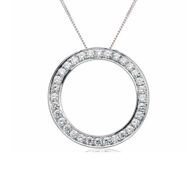 Awesome White Gold Circle Pendant