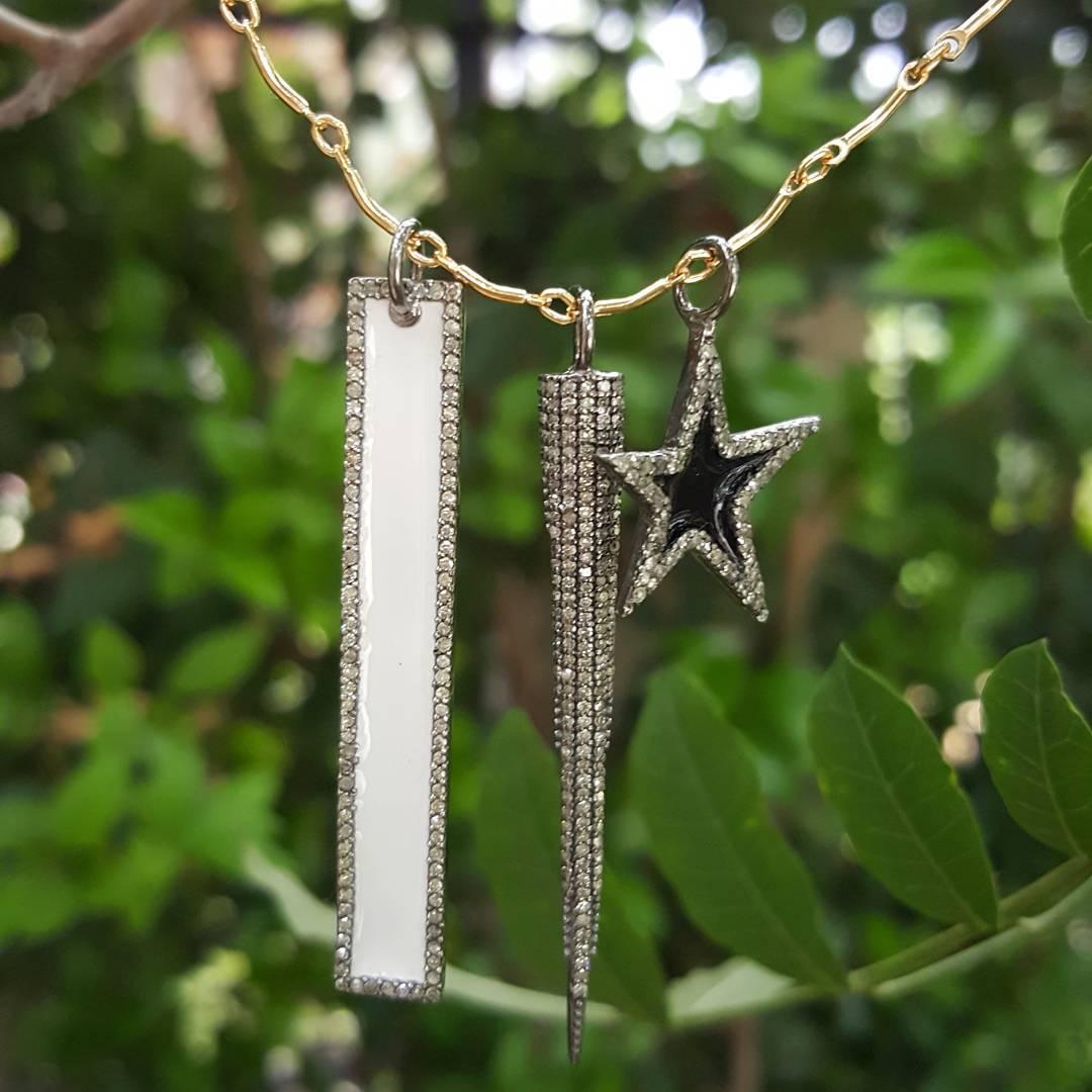 Black & White Charm Hangings