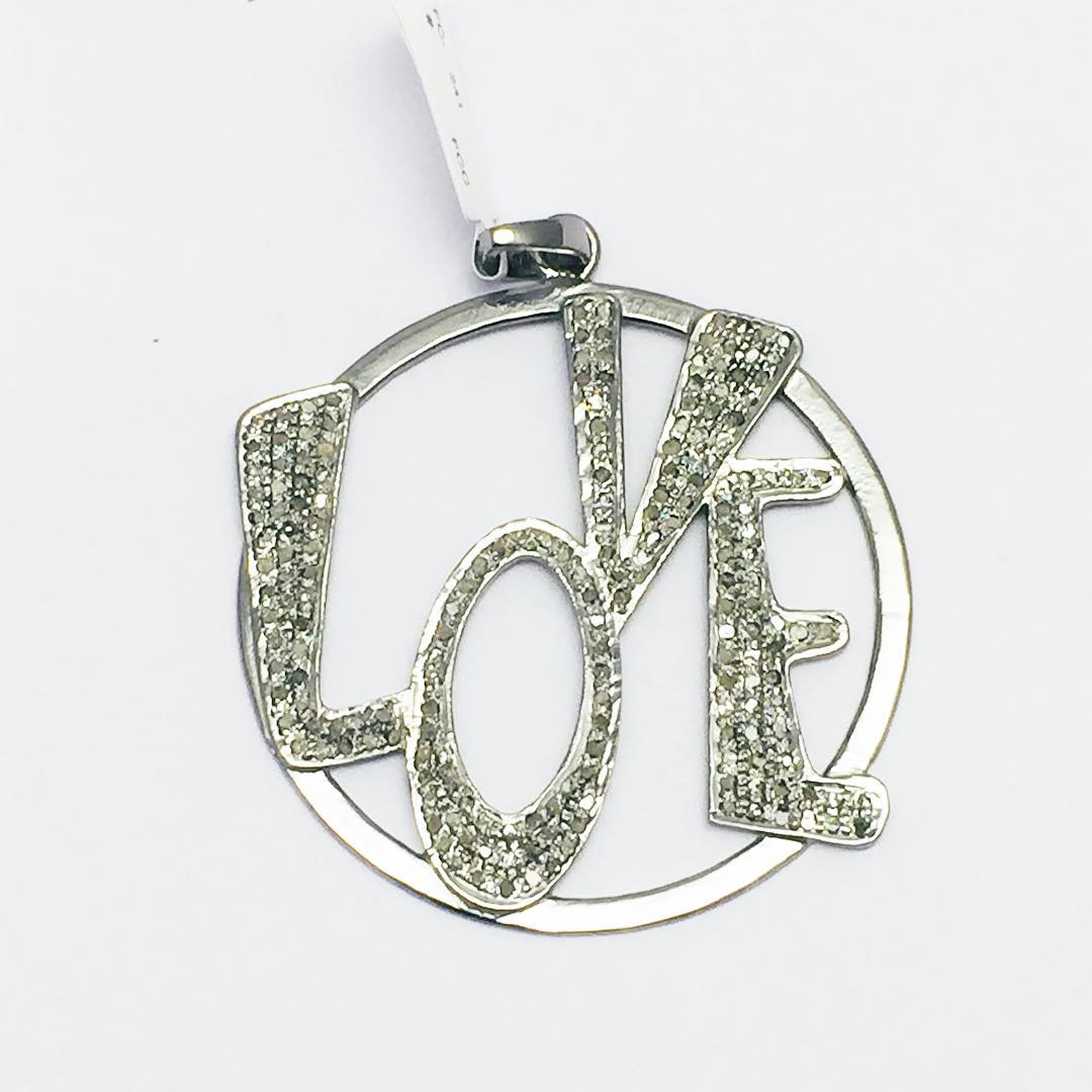 Cool Sterling Silver Love Pendant