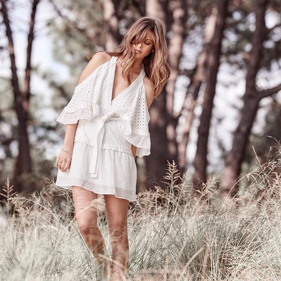 Cool White Cold Shoulder Dress Perfect For Summer
