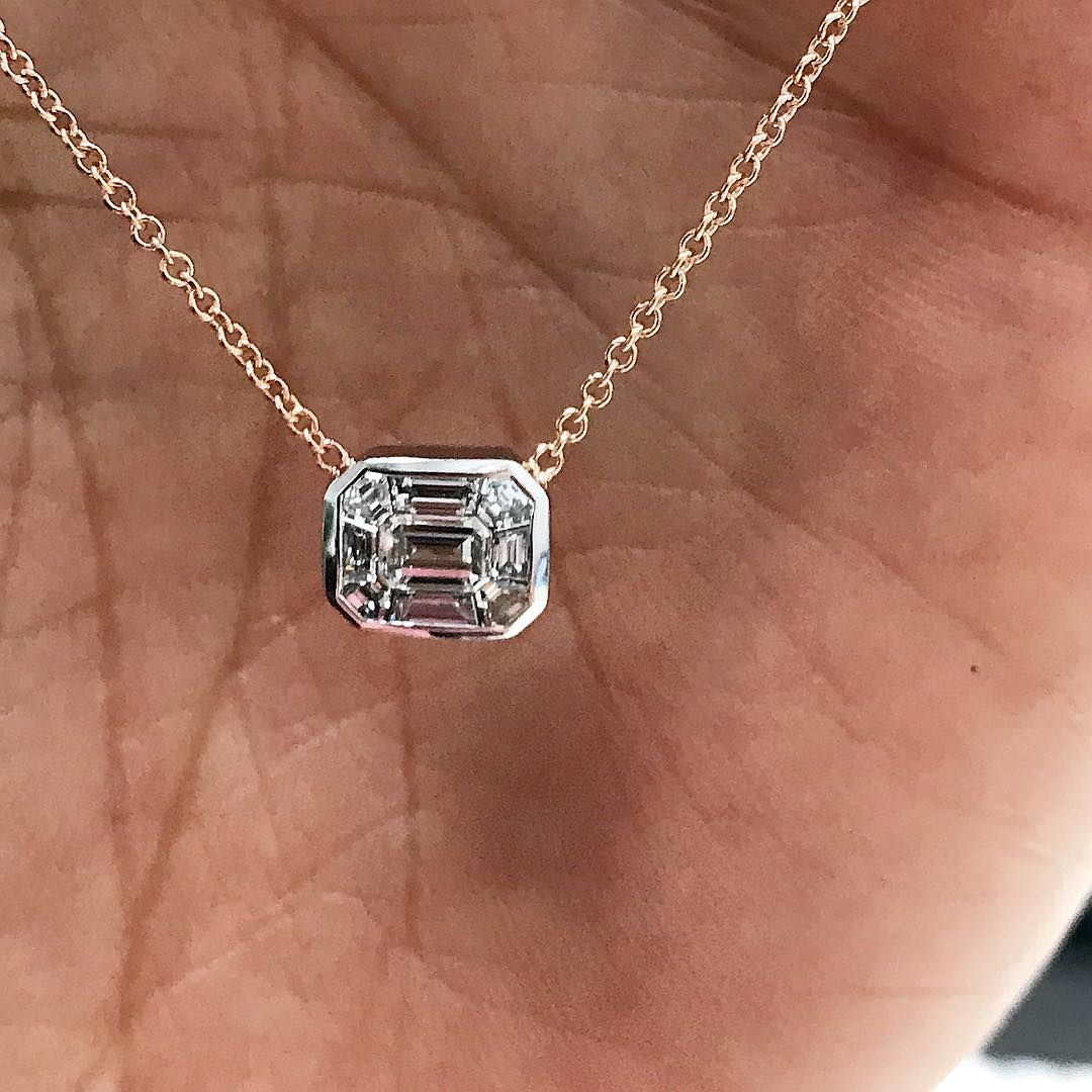 Double Tone Diamond Pendant