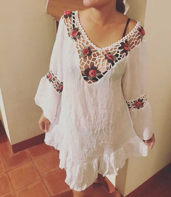 Embroidered Boho Style Summer Dress