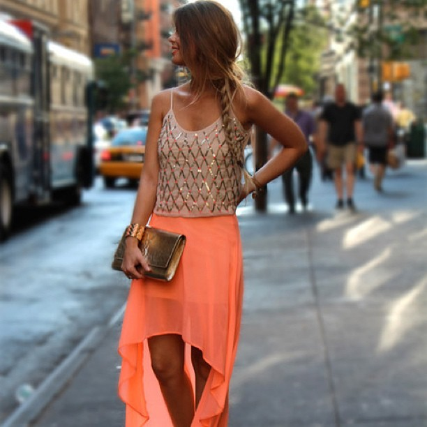 Eye-Catching High Low Skirt With Fancy Top