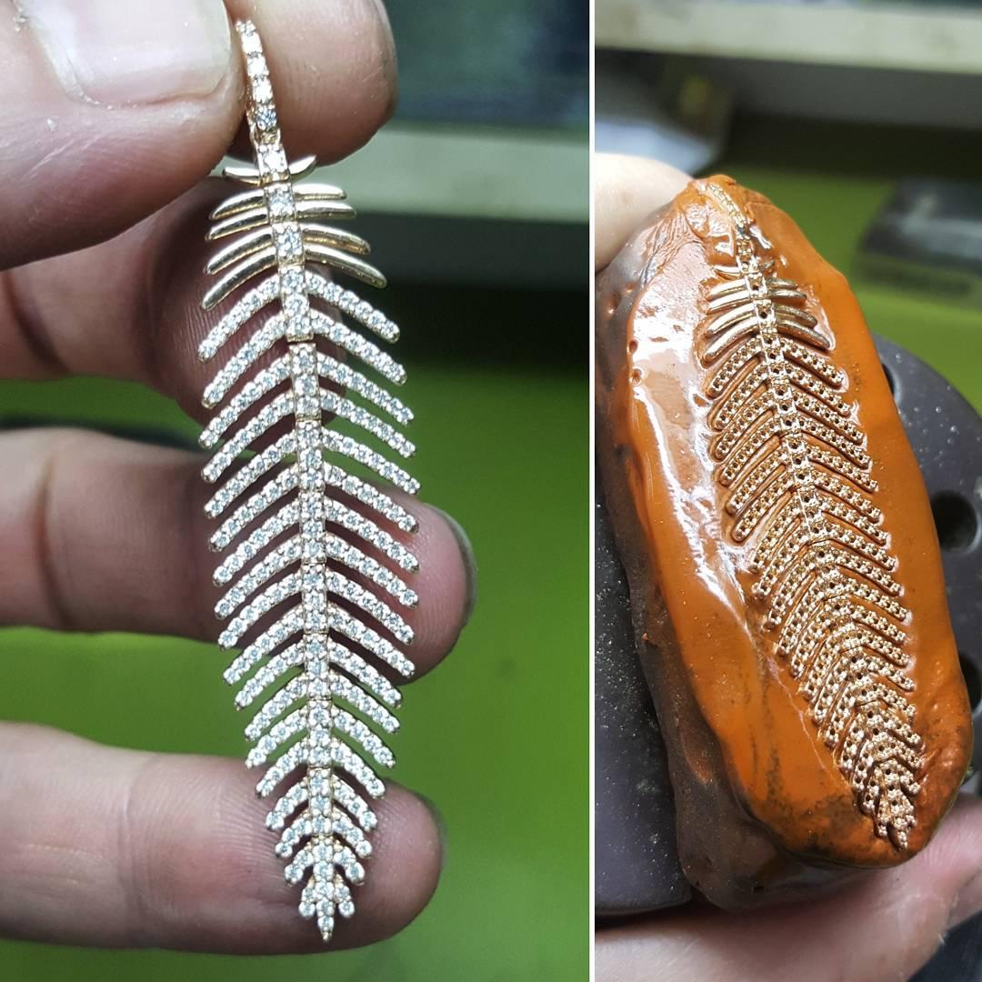 Feather Shape Pendant