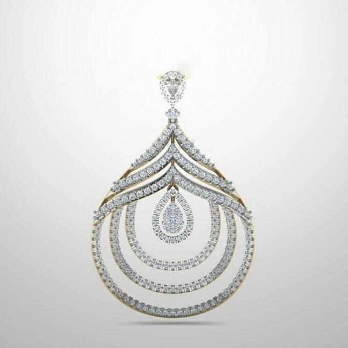 Floral Diamond Pendant Design