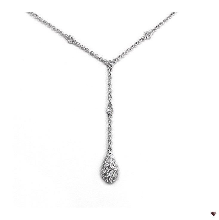 Impressive Tear Shape Diamond Pendant