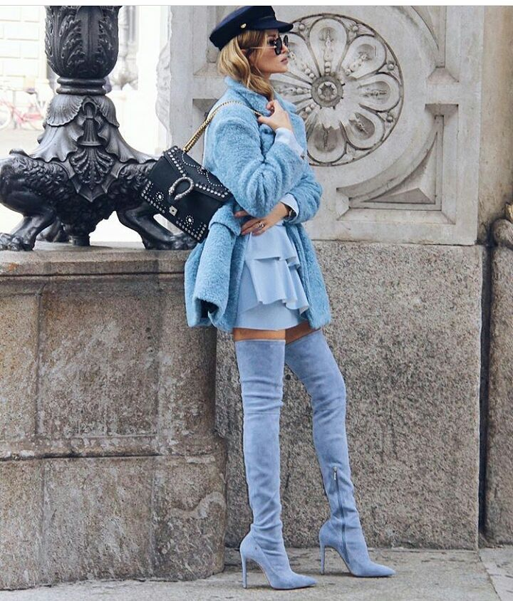 Lovely Blue Spring Outfit For Spring