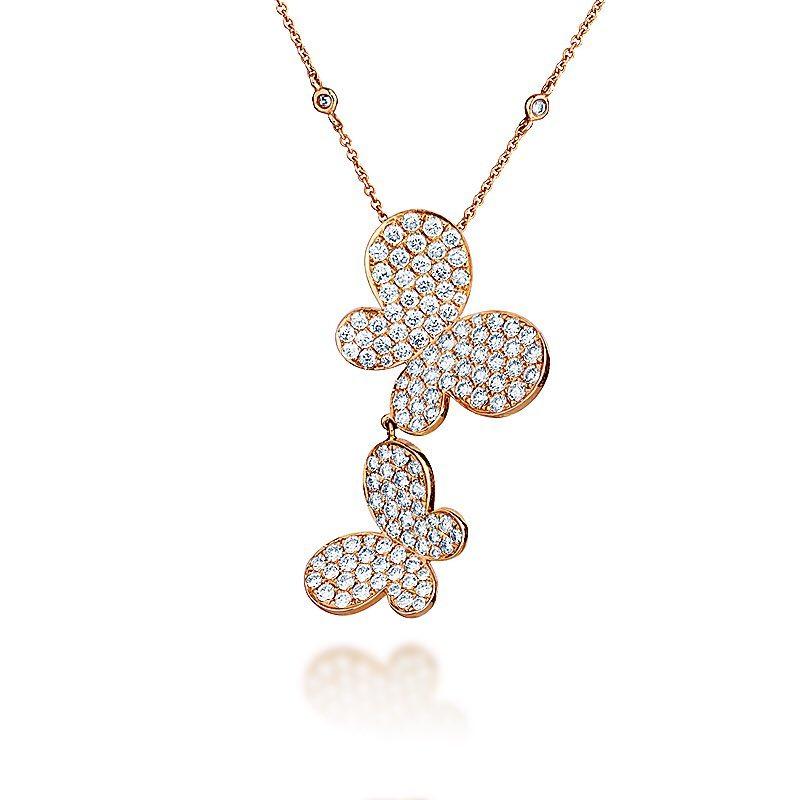Lovely butterfly shape diamond pendant design blurmark lovely butterfly shape diamond pendant design audiocablefo