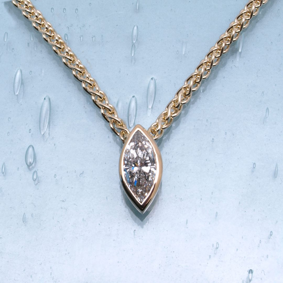 Mind-Blowing Diamond Pendant In Gold