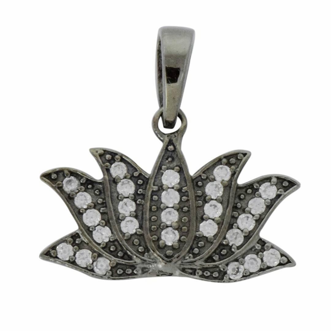 Nice Lotus Shape Diamond Pendant