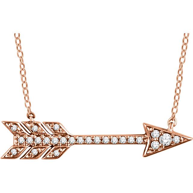 Pretty Arrow Pendant With Small Diamonds