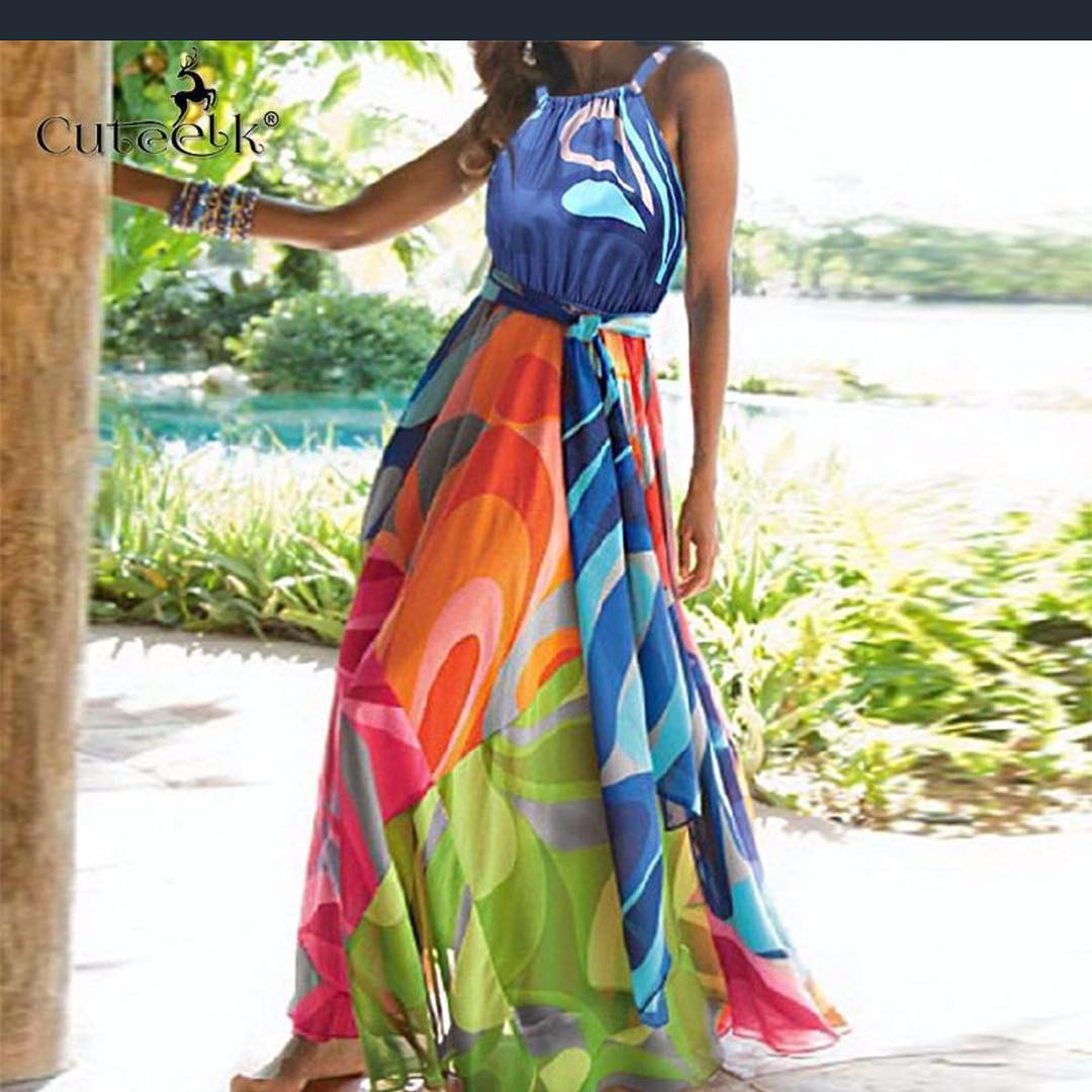Refreshing Multi Color Summer Dress