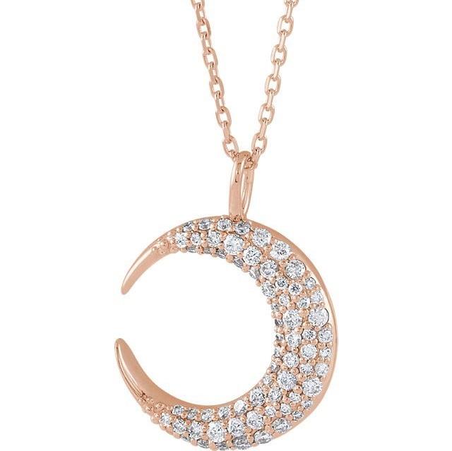 Rose Gold Crescent Pendant