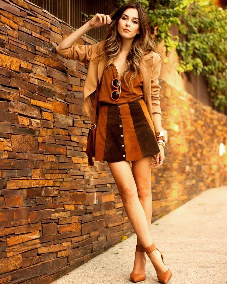 Suede Short Dress With Blazer