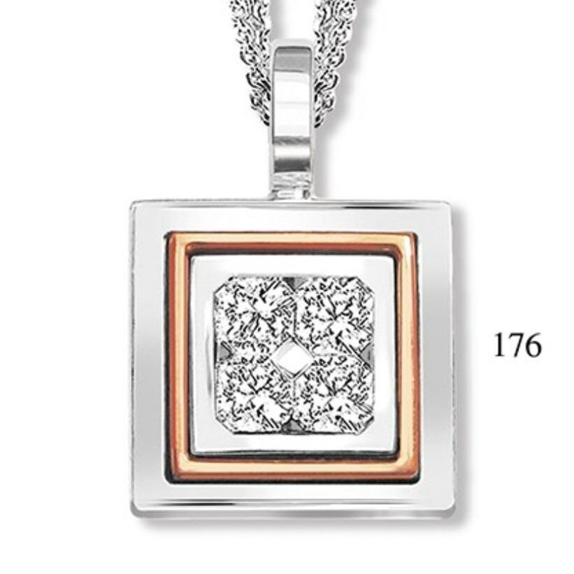 Swanky Square Shape Pendant With Chain