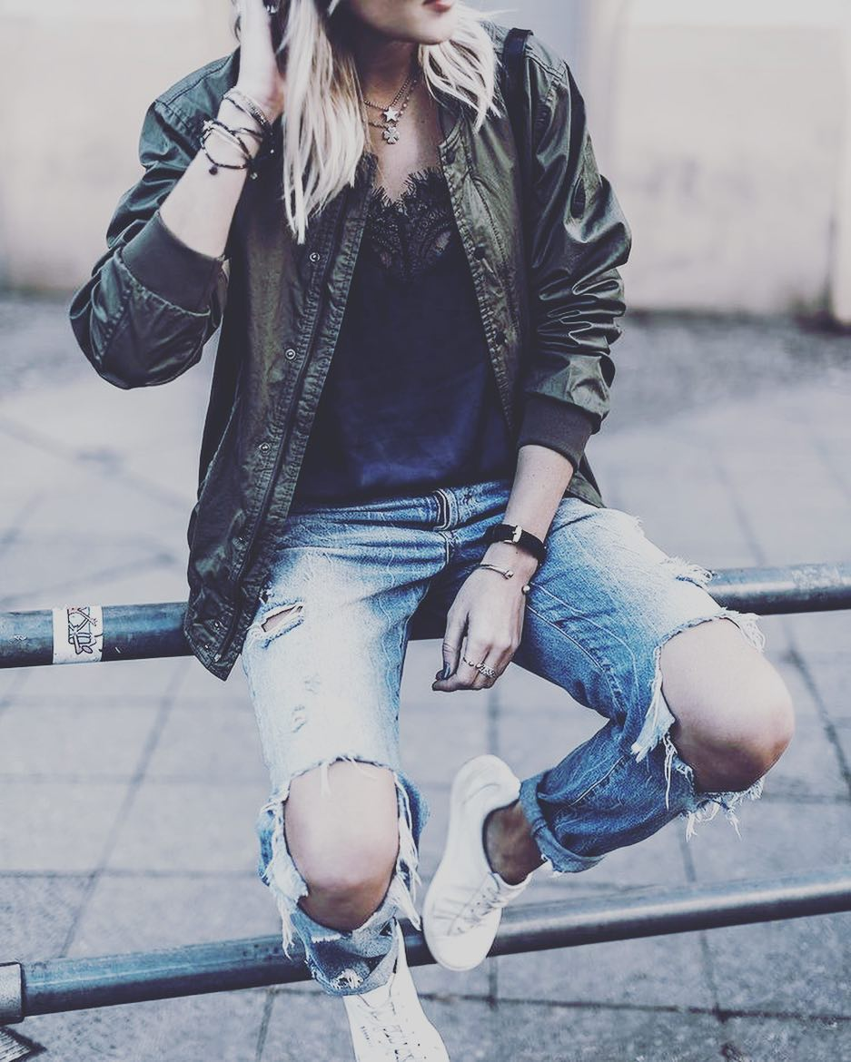 Tomboy Style Spring Outfit For Teenage Girl