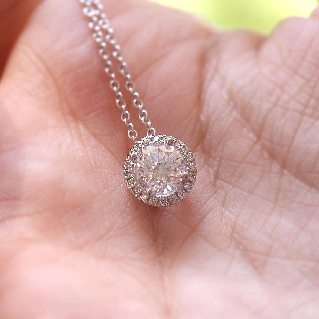 Trendy Diamond Pendant