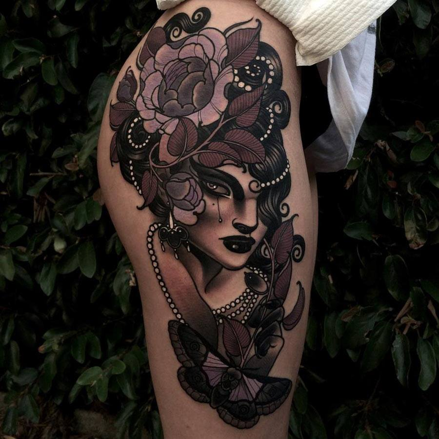 a98b94761 Pictures of Hip And Thigh Tattoo Designs - #rock-cafe