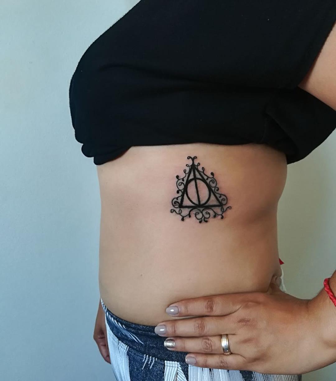 Charismatic Harry Potter Tattoo On Ribs