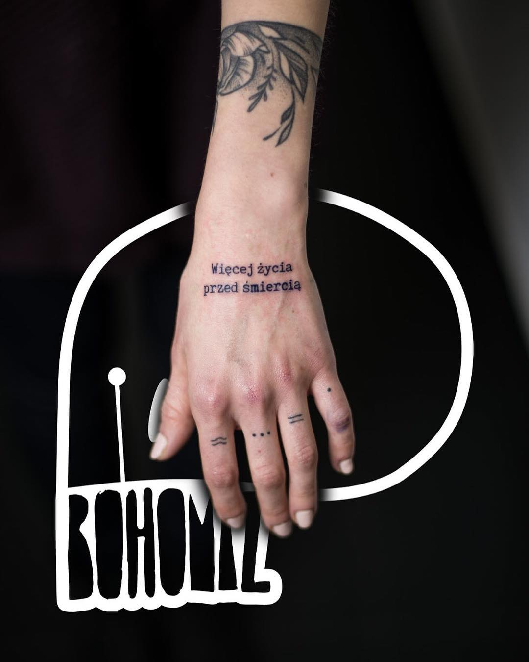 Cool Dot Work Hand Tattoo - Blurmark