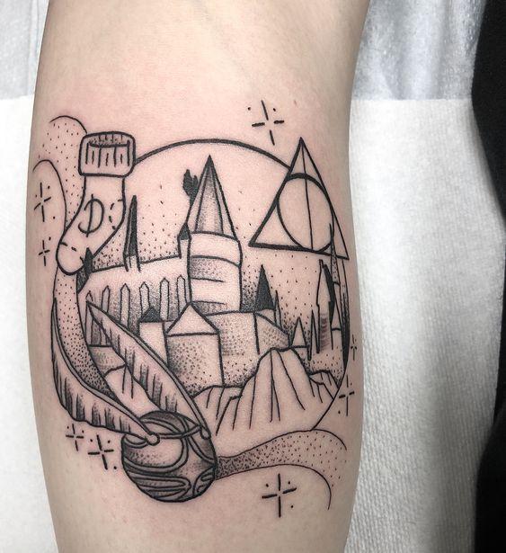 Dot Work Harry Potter Friendship Day Tattoo