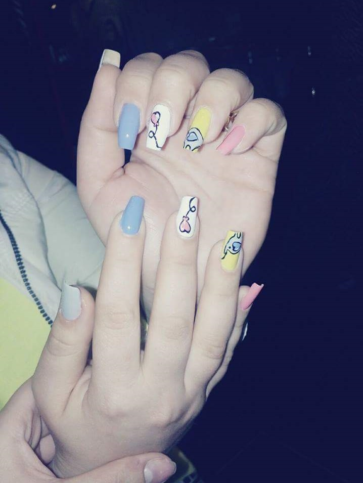 Easy Pastel Color Summer Nails