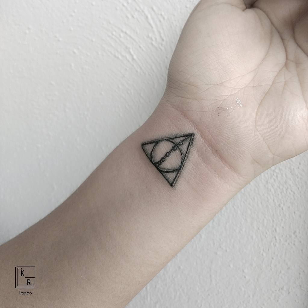 Fabulous Death Hallow Harry Potter Wrist Tattoo