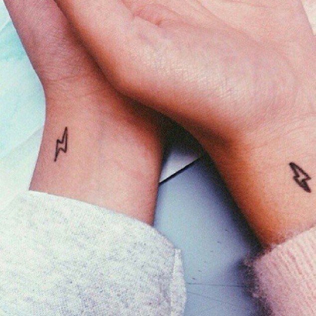 Matching Wrist Tattoo For Harry Potter Fans