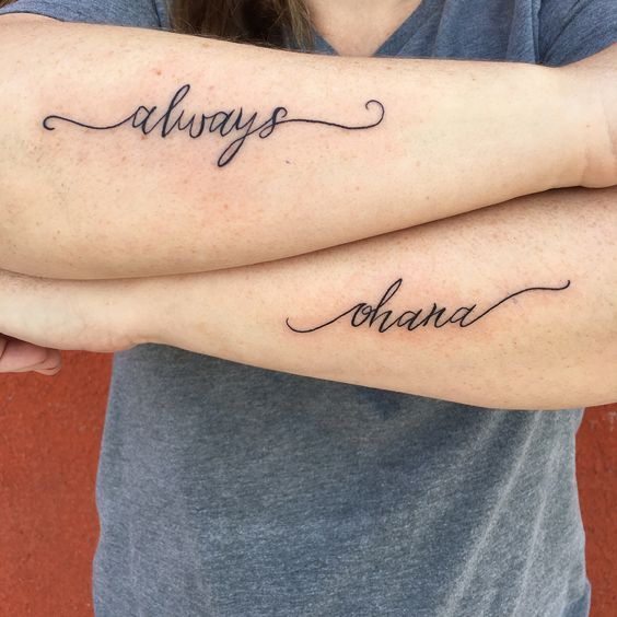 Nice Lettering Tattoo For Harry Potter Fans