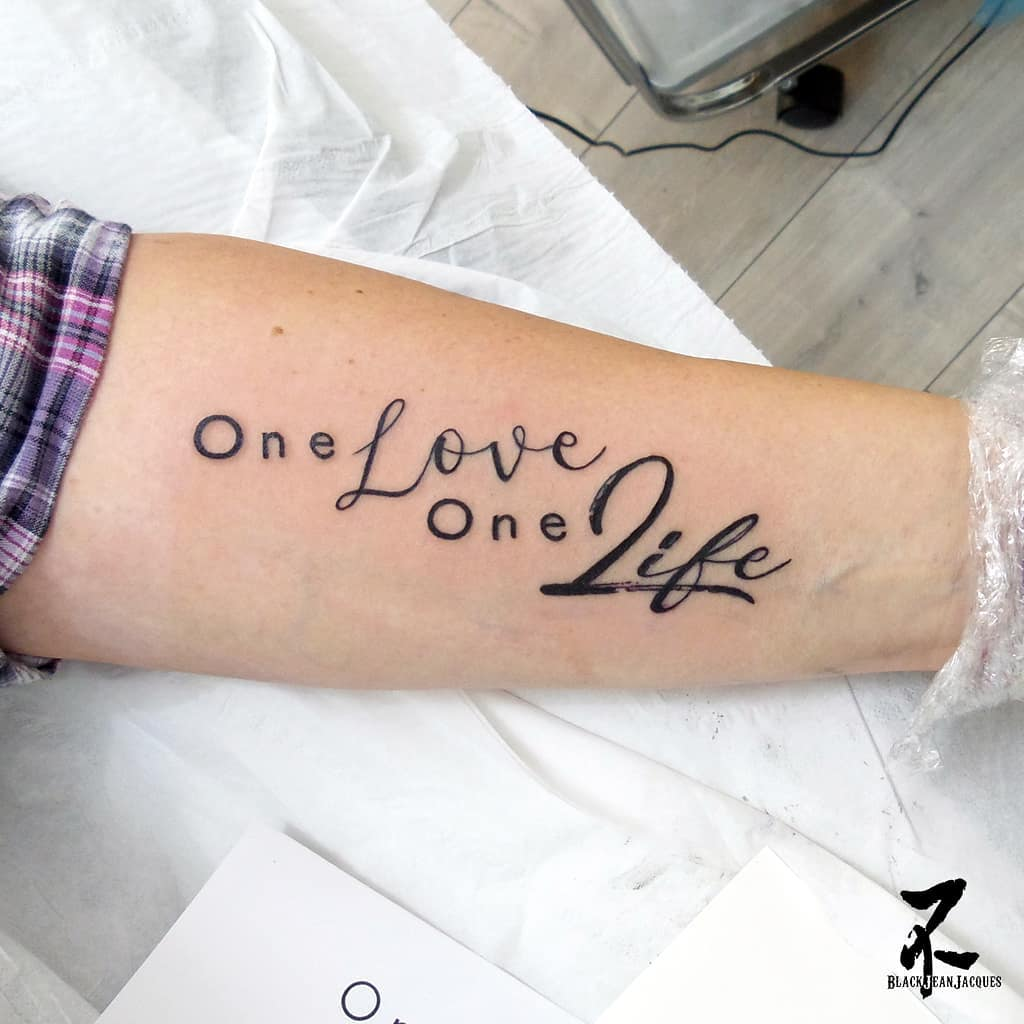 55 best quote tattoo ideas for women. Black Bedroom Furniture Sets. Home Design Ideas